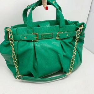 Olivia + Joy Green Large gold chain strap purse